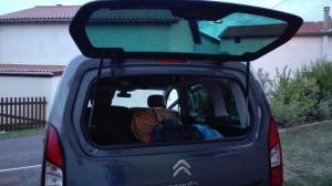 matelas voiture camping car