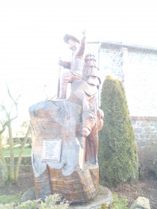 sculture de Stevenson au Bouchet Saint Nicolas