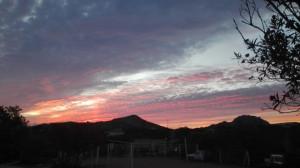 couché de soleil Corse