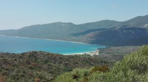 plage de Cupabia vue d'en haut